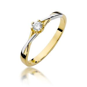 Pierścionek złoty z diamentami BD-W340